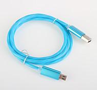 алюминиевая вспышка света USB 2.0 зарядный кабель кабель для Samsung Android amartphone aeneral aable (0,25 м)