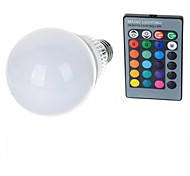 10W E26/E27 LED Globe Bulbs A70 1 High Power LED 100-200 lm RGB 2000-3500 K Remote-Controlled AC 85-265 V
