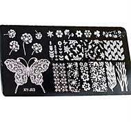 baratos -1 pcs Placa de Carimbar Modelo Estiloso / Fashion Nail Art Design Design Moderno Diário / Metal