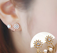 cheap -Women's Sunflower / Flower Stud Earrings - Fashion / Simple Style Silver / Golden Earrings For Daily / Casual