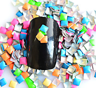 1 Pack Include 5 Mixed colors Nail Art Square Glitter Riveting DIY Nail Art Decoration NC215