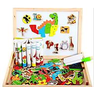Магнитные игрушки Куски М.М. Магнитные игрушки Пазлы Дерево Животные 3D Исполнительные игрушки головоломка Куб Для получения подарка