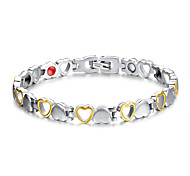 Women's Jewelry Health Care Silver & Gold Titanium Steel Magnetic Therapy Bracelet Christmas Gifts