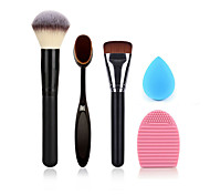 пудра кисти макияж зубная щетка основа щетка для очистки яйцо и маленький размер макияж губка