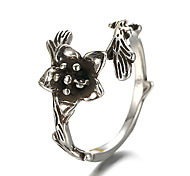 Unisex Vintage Pattern Punk Flower Branch Antique Sterling Silver Ring Band Rings Daily / Casual 1pc