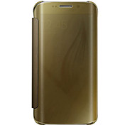 cheap -Case For Samsung Galaxy Samsung Galaxy S7 Edge Flip Translucent Full Body Cases Solid Color PC for S7 edge plus S7 edge S7 S6 edge plus