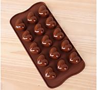 Недорогие -выпечке Mold Сердце Шоколад Пироги Печенье Торты Силикон Экологичные День Святого Валентина Высокое качество