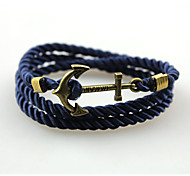 Men's Women's Bangles Wrap Bracelet Handmade Fashion Multi Layer Alloy Anchor Jewelry For Daily Casual Christmas Gifts