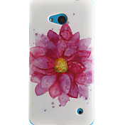 cheap -Case For Nokia Lumia 630 Nokia Nokia Lumia 530 Nokia Case Pattern Back Cover Flower Soft TPU for
