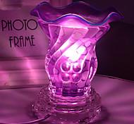 Fashion Crystal  Glass Fragrance Lamp 2 Colors Electric Plug Aromatherapy Oils Incense Burner Bedroom Night Light