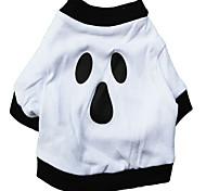 Gatti / Cani Costumi / T-shirt Bianco Abbigliamento per cani Estate / Primavera/Autunno Cartoni animati Cosplay / Halloween