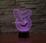 Недорогие -1 ед. 3D ночной свет Диммируемая USB Разноцветный пластик 1 лампа Батарейки не входят в комплект 23.0*17.0*4.5cm