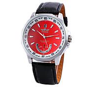preiswerte -WINNER Herrn Automatikaufzug Mechanische Uhr Armbanduhren für den Alltag PU Band Charme Schwarz