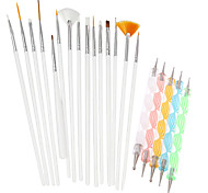 cheap -1Set Include 20pcs Nail Art Beauty Pen Brush Painting Tools Nail Styling Tools NAO25+NAO20