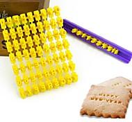 venda quente número alfabeto biscoitos carta biscoito selo embosser fondant de decoração do bolo de molde a travagem cortador de cor