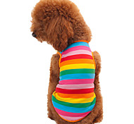 cheap -Cat Dog Shirt / T-Shirt Dog Clothes Fashion Stripe Rainbow Costume For Pets