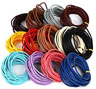 Недорогие -beadia 5 мтс 3мм круглый кожаный шнур& провод& строка& ювелирных изделий шнура (13 цветов)