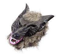 латекс животное голова волка с маска для волос костюмированный костюм партии страшный Хэллоуин