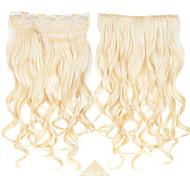 зажим способа косплей волосы синтетические волосы # 613 блондинка цвет длинные вьющиеся волнистые наращивание волос высокая температура