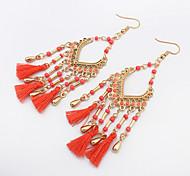 Women's Drop Earrings Tassel Bohemian European Fashion Resin Alloy Geometric Jewelry For Daily Casual