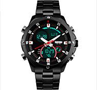 Недорогие -SKMEI Муж. Спортивные часы Кварцевый Механические, с ручным заводом Японский кварц Защита от влаги LED Повседневные часы Нержавеющая сталь