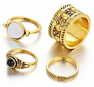 cheap -Women's Statement Ring - Vintage Casual Fashion Silver Golden Ring For Wedding Party Daily Casual