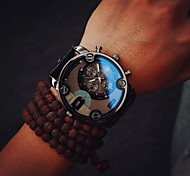 Men's Fashion Watch Blue Ray Black Brown Leather Band Steel Shell Men Male Quartz Watch Wristwatches Clock