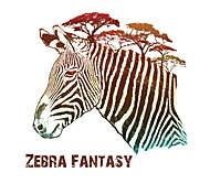 Art Zebra Fantasy Animals Pine Tree Wall Stickers Entrance Bedroom Living Room Wall Decals Environmental