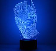 Удивительно 3d lllusion светодиодные лампы стол свет ночи с двойной формой лица с формой денщик с формой маски