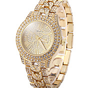 Women's Casual Watch Pave Watch Dress Watch Fashion Watch Quartz Casual Watch Imitation Diamond Rose Gold Plated Stainless Steel Band