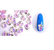 Цветы / Милый-Стразы для ногтей1*1*0.5-10-Металл