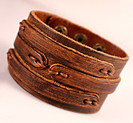 cheap -Men's Leather Bracelet Wrap Bracelet Bohemian Handmade Fashion Adorable Leather Geometric Jewelry Party Daily Casual Costume Jewelry