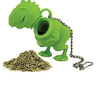 Недорогие -1шт силикона динозавр форма чая заварки Вкладыш ситечко травяной силиконовый фильтр диффузор