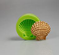 Лето пляж морские раковины кекс украшение силиконовая форма сахара инструменты инструменты полимерная глина, делая цвет случайных