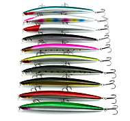 "10 pcs Fishing Lures Minnow Random Colors g/Ounce,180mm mm/7"" inch,Hard PlasticSea Fishing Bait Casting Freshwater Fishing Lure Fishing"