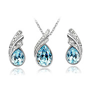 Women's Fashion Austria Crystal Earrings Necklace Set