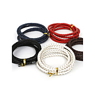 Beadia 5mm Braided Leather Cord Fit Necklaces & Bracelets 1M Length(5 Colors)