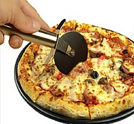 cheap -1 pc Stainless Steel Pizza Cutter Round Shape Pizza Wheels Cutters Cake Bread Round Knife Cutter Pizza Tools