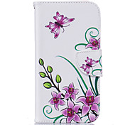Pink Butterfly Pattern Card Phone Holster for Moto G4/G4 Plus