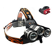 Headlamps Bike Lights Front Bike Light Cree XM-L T6 Cycling Impact Resistant Rechargeable Waterproof Anti Slip 18650 3000 Lumens Battery