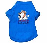 Gatti / Cani T-shirt Blu Abbigliamento per cani Estate Fantasia animale Di tendenza