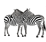 9504 Cuddling Zebras Animal Vinyl Wall Sticker Removable Decal Wall Paper Home Decor Free Shipping