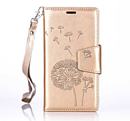 For Samsung Galaxy A5(2016)/A3(2016) Luxury Retro Dandelion Diamonds embossed wallet Phone Cover With Stand Card Holder