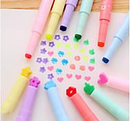 South Korea Creative Stationery Candy Color Multifunction Tip Singular Color Highlighter Marker