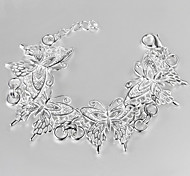 Недорогие -Браслеты Браслеты-цепочки и звенья Стерлинговое серебро Мода Повседневные Бижутерия Подарок Серебряный,1шт
