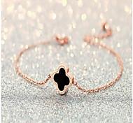 Femme Chaînes & Bracelets Mode bijoux de fantaisie Alliage Forme de Cercle Amour Trèfle à Quatre Feuilles Bijoux Pour Mariage