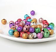 Недорогие -beadia 10mm акриловые бусины золото серебро пластиковые бусины 28g (aprx.50pcs)