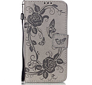 PU Leather Material Butterfly Flower Pattern Mobile Phone Cases for Samsung Galaxy J510/J5/J310/J3