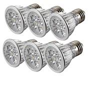 4W E26/E27 Точечное LED освещение MR16 4 светодиоды Высокомощный LED Декоративная Тёплый белый Холодный белый 300-350lm 3000/6000K AC