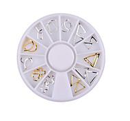 Недорогие -1 pcs Украшения для ногтей металлический / Классика Повседневные Дизайн ногтей / Металл